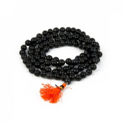Odishabazaar Black Agate Hakik Japa Mala - Protection Against Bad Evils 108 + 1 Beads