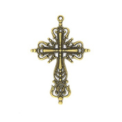 5pcs 42x63mm Antique Bronze Lovely Filigree Cross Charms Pendant C2662