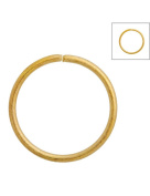 FreshHear Pack of 150 Open Jump Rings Shape Round Colour Gold 12x12x1 Outside Diameter 12mm