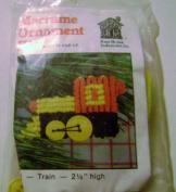 The Knot House Macrame Train Ornament Kit 6.4cm