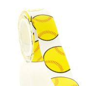 2.2cm Yellow Softball Grosgrain Ribbon 5 Yard