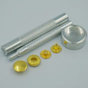 """Bluemoona Metal Snap Fastener Leather Rapid Rivet Button Setting Tool 12mm 1/2"""" Sewing 100 Sets"""
