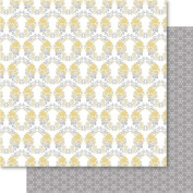 Ruby Rock-It NOM270582 Bella! Get Hitched Double-Sided Cardstock, 30cm x 30cm , Wreath, 10 Per Pack