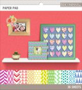 Basics 22cm x 22cm Paper Pad 36/Pkg-Brights, 12 Designs/3 Each