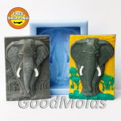Elephant Soap Mould Silicone Moulds Mould for Soap Mould Animals Mould Silicone Mould Art Mould Exclusive Moulds