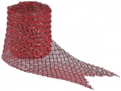 Red Mesh Ribbon - 10 Yards - Plastic