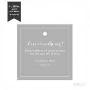 Andaz Press Personalised Wedding Bubbles Favour Gift Tags, Square, 24-Pack - Custom Made Any Name