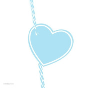 Andaz Press Heart Gift Tags, Solid, Blank, Baby Blue, 30-Pack