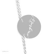 Andaz Press Circle Gift Tags, Whimsical Style, Congrats!, Grey, 24-Pack