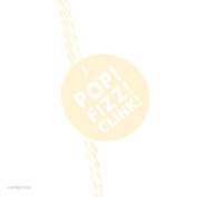 Andaz Press Circle Gift Tags, Modern Style, Pop, Fizz, Clink!, Ivory, 24-Pack