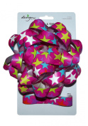 LARGE BOW AND RIBBON COMBO PACK, colourful STARS-MAGENTA