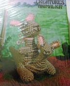 Vogart Crafts Crochet Creatures Animal Kit Kangaroo With Baby Roo #3106