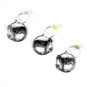 The Elegant Knitter Sheep Knitting Needle Charms, Set of 3, Silver, Medium
