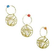 The Elegant Knitter Dragonfly Knitting Needle Charms, Set of 3, Gold, Medium