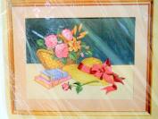 1988 Sentimental Still Life Needlepoint Kit 0341 Linda Hill Griffith Pink Flower