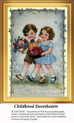 Childhood Sweethearts, Vintage Counted Cross Stitch Pattern