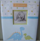 Pearhead L'il Peach Baby Record Book Boy Blue Dinosaur Scrapbook Photo Album