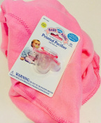 Gift Set Bundle Includes -Soft Pink Baby Blanket with Pink Pacifier