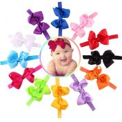 Susenstone®12PC Baby Girls Elastic Bowknot Flower Hairband Photography Headbands