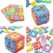 Lovely Kids36x Puzzle Kid Educational Toy Alphabet A-Z Letters Numeral Foam Mat Age 1~7