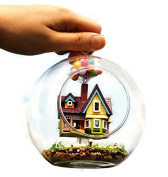 DIY House Glass Ball Flying Cabin, Pixar Film Up House Model With Miniature, Assembling Novelty Handmade Toy Gift