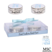 Mainstreet First Tooth and Curl Keepsake Set Baby Boy Blue