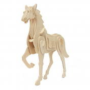 3D Jigsaw Puzzle Wooden Development Animal Horse Kids Toy