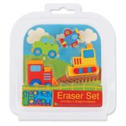 Stephen Joseph Eraser Set-Transportation