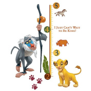 RoomMates The Lion King Peel and Stick Giant Growth Chart Rafiki