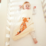 Wee Urban Cosy Basics Four Season Baby Sleeping Bag, Natural Foxes, Small 0-6 months