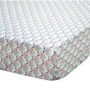 Zoe Scallop Floral Cotton Crib Fitted Sheet