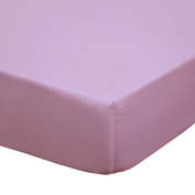 Zia Solid Purple Cotton Crib Fitted Sheet
