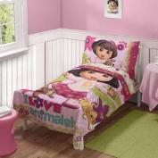 Dora The Explorer Pets Toddler Bed Set, Pink