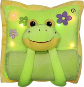 Melody Mates Musical Night Light Pillow and Blanket Frog