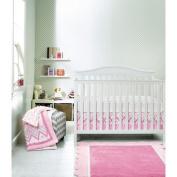 Circo Pink Chevy 4pc Baby Girl Crib Bedding Set