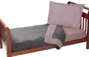 Baby Doll Reversible Toddler Bedding, Grey/Pink