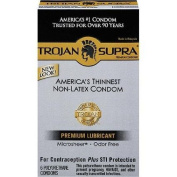Trojan Supra Bareskin Lubricated Condoms 6 Ea