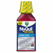 Vicks 44 Nyquil Severe Cold and Flu Nighttime Relief, Berry, 12.0 Fluid Ounce