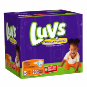 Luvs With Ultra Leakguards Size 3 Nappies 204 Count