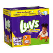 Luvs Premium Stretch Nappies with Ultra Leakguards Nappies, Size 3, 234 Count
