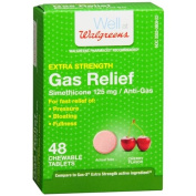 Walgreens Extra Strength Gas Relief Chewable, Cherry 48 ea