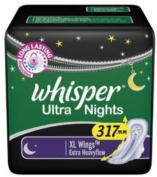 2 X Whisper Ultra Night XL Wings Sanitary Pad