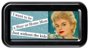 Stay At Home Mom Without the Kids Sarcasm Funny Retro Tampon Case