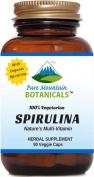 Organic Spirulina Capsules - 90 Kosher Vegetarian Caps - Now with 450mg Organic Spirulina Powder - Nature's Superfood Supplement