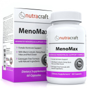 #1 Menopause Relief Supplement - Natural Herbal Menopausal Support Formula for Hot Flashes, Night Sweats, Vaginal Dryness and Mood Swings - With Black Cohosh, Dong Quai, Vitex, Sage, Soy, Red Clover and Wild Yam - 60 Capsules