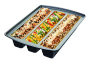Chicago Metallic 26783 Lasagna Trio Pan, 12 by 38cm by 7.6cm , Silver