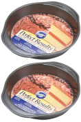 Wilton 2105-6059 Perfect Results Nonstick Round Cake Pan, 23cm by 3.8cm , Pack of 2 Pans