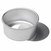 Dealglad 15cm x 7.6cm Anodized Aluminium Round Cheesecake Pan Chiffon Cake Mould Baking Mould with Removable Bottom