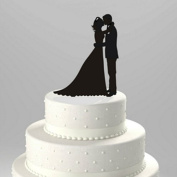Kissing Couple Silhouette Acrylic Cake Topper