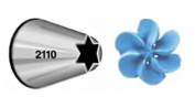 Wilton #2110 (1M) Open Star Decorating Tip for large Coupler - Pack of 6 Tips